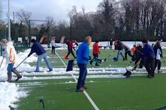 Hockey: Snow stopping Alderley Edge