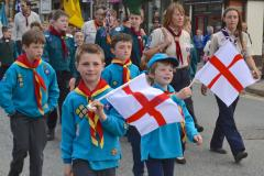Scouts parade for St George