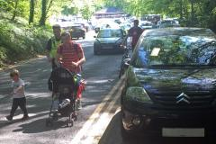 Children and elderly forced onto the road by 'selfish' parkers
