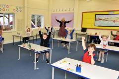 King's pupils are jumping for joy as school re-opens