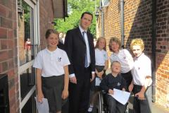 George Osborne officially opens school's new entrance