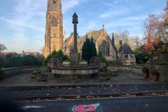 Poppies painted to commemorate Remembrance Sunday