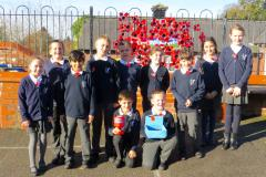 School children pay tribute to those who made the ultimate sacrifice