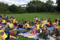 Girl Guides picnic in the park