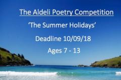 New children's poetry competition celebrates summer holidays