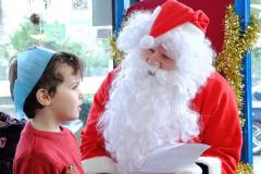 Kids enjoy breakfast with Santa