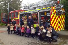 Firefighters visit youngsters at Alderley Edge School for Girls