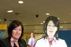 Hol–iday-grams materialise at Manchester Airport