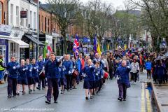 Hundreds of scouts brave the rain for St George's Day parade