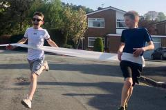 Ten-year-olds support NHS by running marathon over 27 days