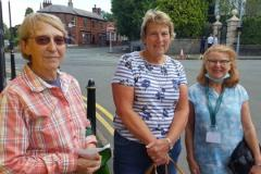 Volunteers deliver fish and chip meals to the elderly
