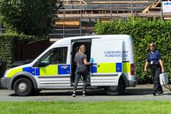 Forensic officers investigate burglary