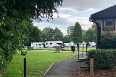 Unauthorised encampment in Alderley Edge Park