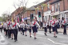 Local scouts march in St George's Day parade