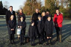 Alderley girls plant commemorative tree in village park