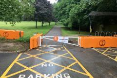Park is 'now secure' with 2.5 ton blocks
