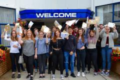 Students at Wilmslow High celebrate impressive A Level results