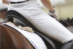 Perfect posture for horse riders