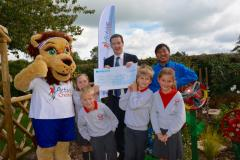 Chancellor visits school's gardening project