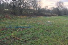 Fields littered with 'stolen' cables