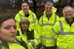 Volunteers raise awareness of speeding on Ryleys Lane