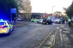 Drivers warned to take care as two vehicles crash at junction