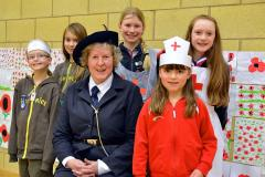 Today's girls learn about Girl Guiding in the First World War