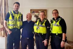Officers save life of pensioner following an abandoned 999 call
