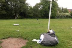 Clean up gets underway as travellers leave village park