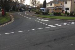 Road markings installed to improve safety at junctions