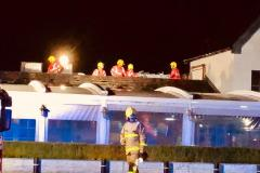 Restaurant evacuated as fire breaks out in roof space