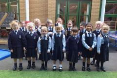Big smiles as little ones settle into big school