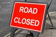Macclesfield Road closed Monday
