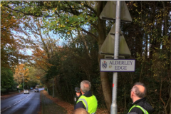 Volunteers clock speeding vehicles on Congleton Road