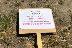 Signs urge dog owners to clean up at poo hotspot