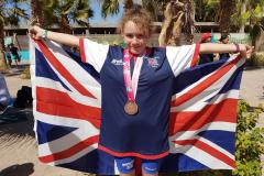 Talented young athlete wins two World Championship medals