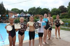 Ryleys children compete in swimming gala on hottest day of the year
