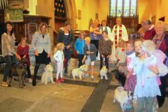 Animals invited to a church service with a difference