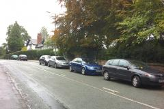 Advisory notices issued to vehicles parked on Congleton Road