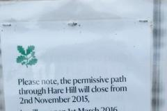 Reader's Letter: Closure of Hare Hill parkland