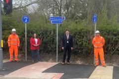 Alderley Road cycleway officially opened