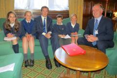 School councillors visit George Osborne in Westminster