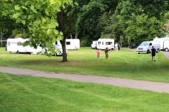 Travellers move on from leisure centre to set up illegal camp in village park