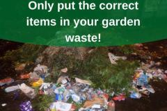 Council urges residents to only put the correct items in their garden waste