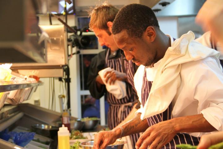 Shaun Wright-Phillips in the kitchen