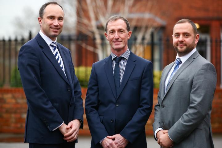 Image 1 from left to right Chris Langrick, Andrew Milnes and Mike Bowker push for growth at Langricks