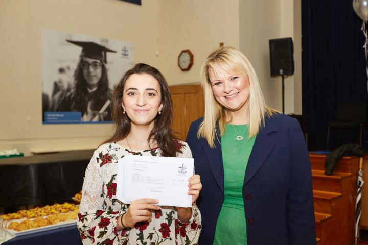 Former Head Girl, Rowdah Charbak pictured all smiles with Headmistress, Helen Jeys