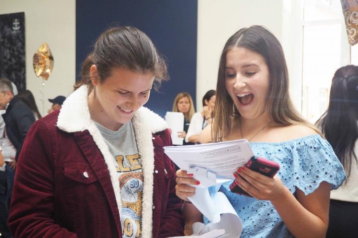 Twin sisters, Lara and Ella Coulter celebrate phenominal success at GCSE